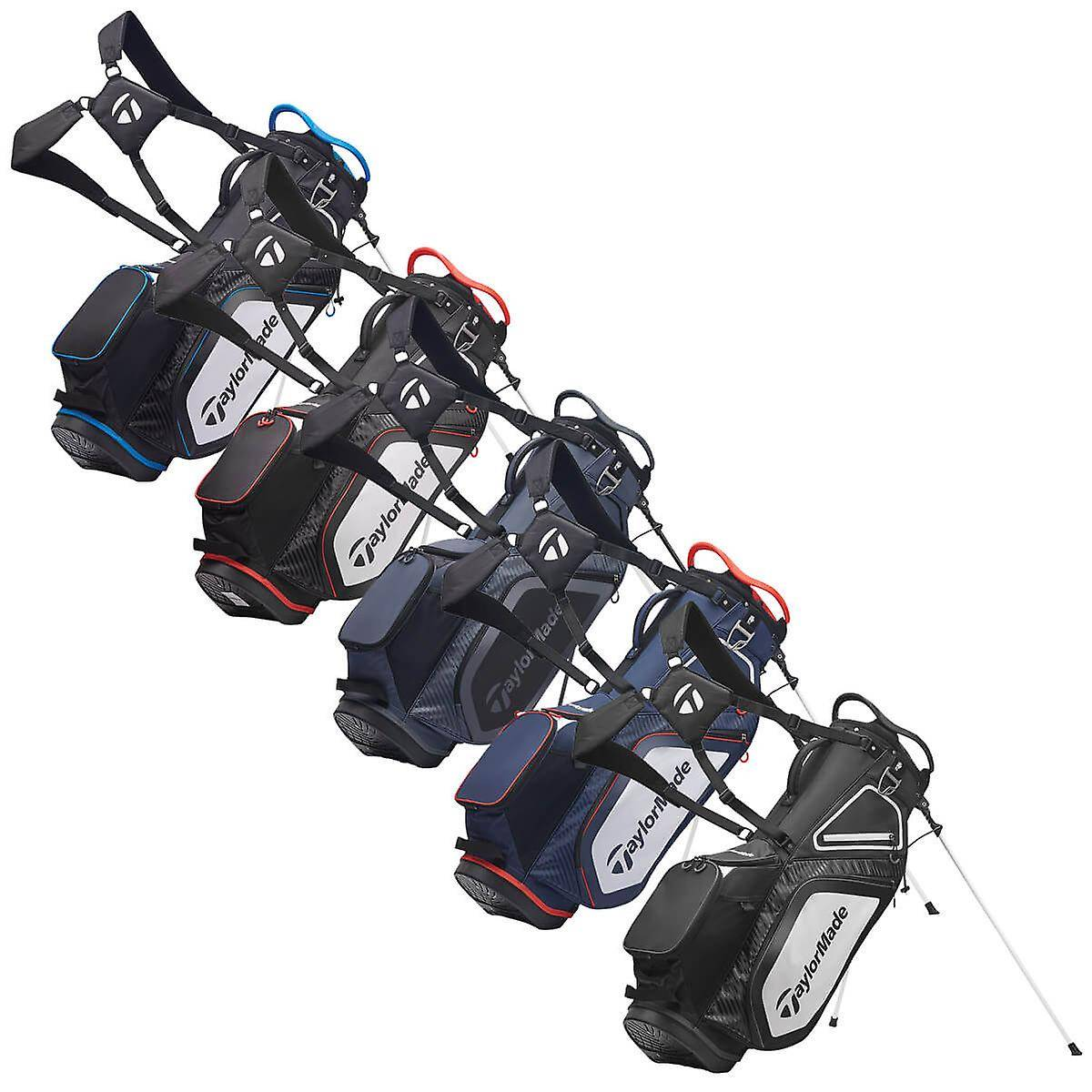 Taylor Made Taylormade Homme 2020 Pro Stand 8.0 Léger Résistant à l'eau 8 Way Golf Bag Marine/blanc/rouge One Size