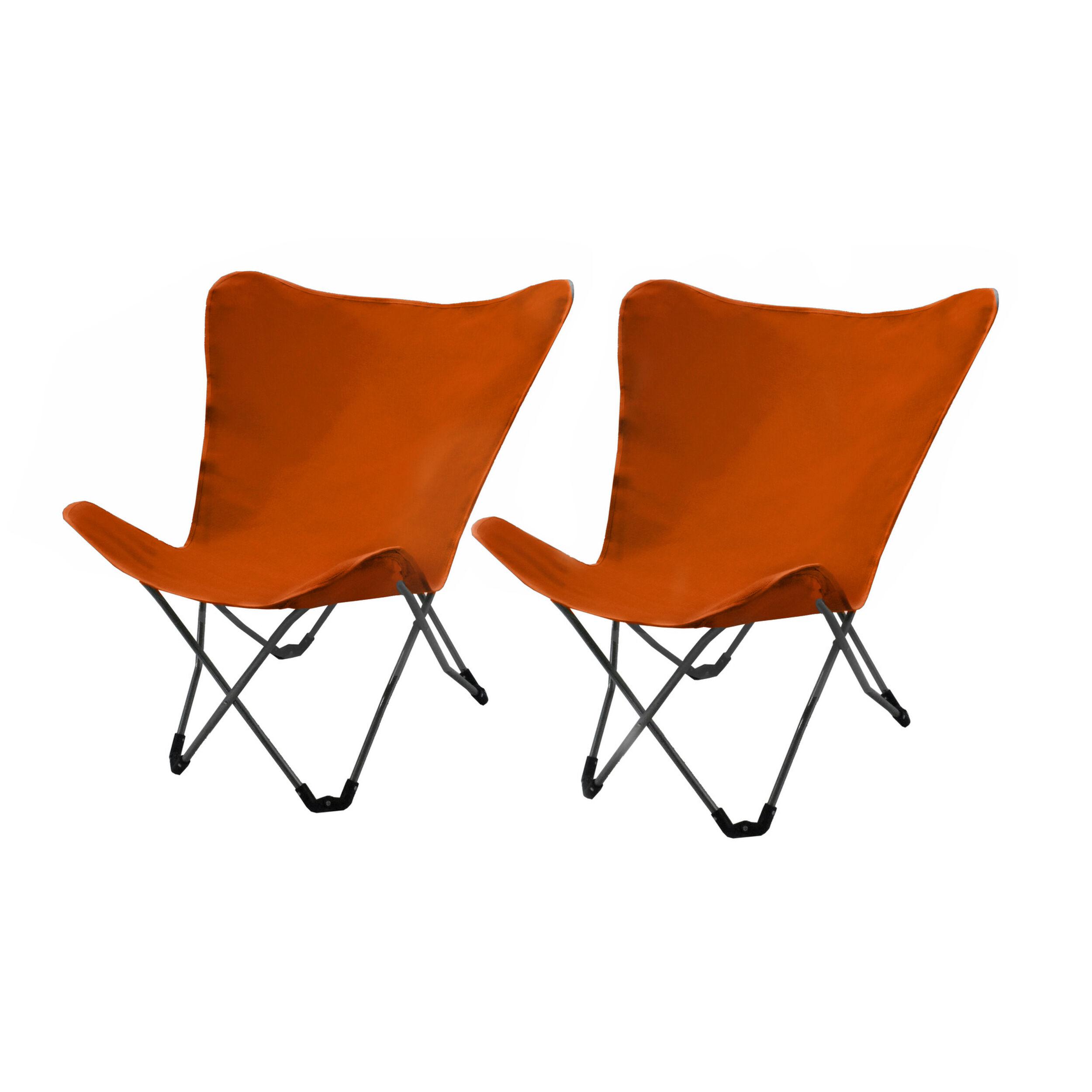 Rendez vous déco Chaise détente Vitoria orange (lot de 2)