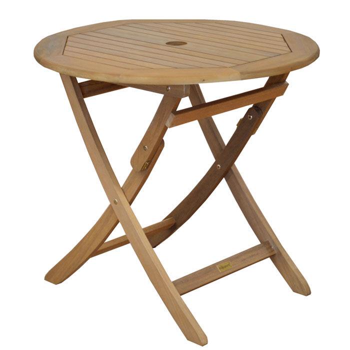 Rendez vous déco Table de jardin ronde en bois Cali 80cm