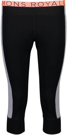 Mons Royale Alagna 3/4 Pantalon (Noir)