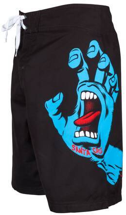 Santa Cruz Screaming Hand Boardshorts (Noir)