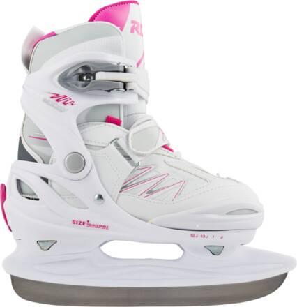 Roces Girls Ice Skates Roces Moody Ice 2.0 Ajustable (White-fuchsia)