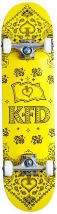 KFD Skateboard Complet KFD Bandana (Jaune)