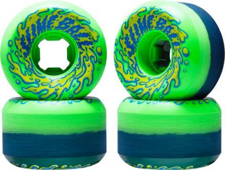 Santa Cruz Slime Balls Vomit Double Face Pack de 4 De Chez Santa Cruz (53mm - Vert)