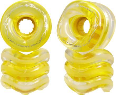 Shark Wheel Roues Longboard Shark California Roll (60mm - Clear With Yellow Hub)