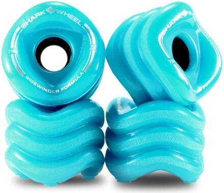 Shark Wheel Roues Longboard Shark Starter 70mm Pack de 4 (70mm - Bleu-vert)