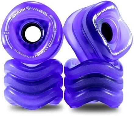 Shark Wheel Roues Longboard Shark Starter 70mm Pack de 4 (70mm - Transparent Purple)