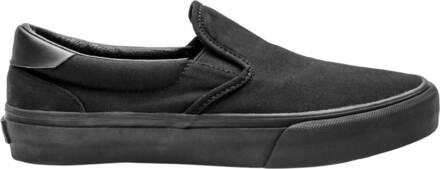 Straye Chaussures Skate Straye Ventura Canvas Slip-Sur (Black/Black Canvas)