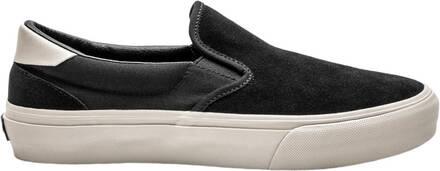 Straye Chaussures Skate Straye Ventura Suede Slip-Sur (Black/Bone Suede)