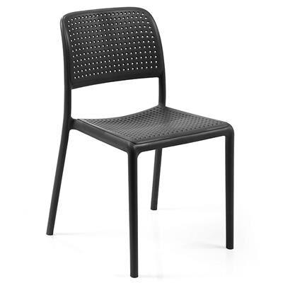 NOUVOMEUBLE Chaise de jardin anthracite BALSA (lot de 4)