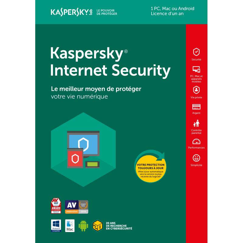 KASPERSKY Oem Kaspersky Internet Security - 1 Appareil - 1 An