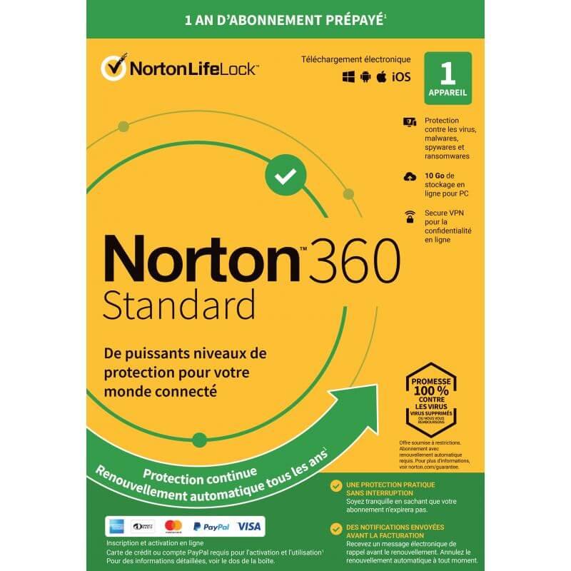 Symantec Oem Norton 360 Standard - 1 Appareil - 1 An