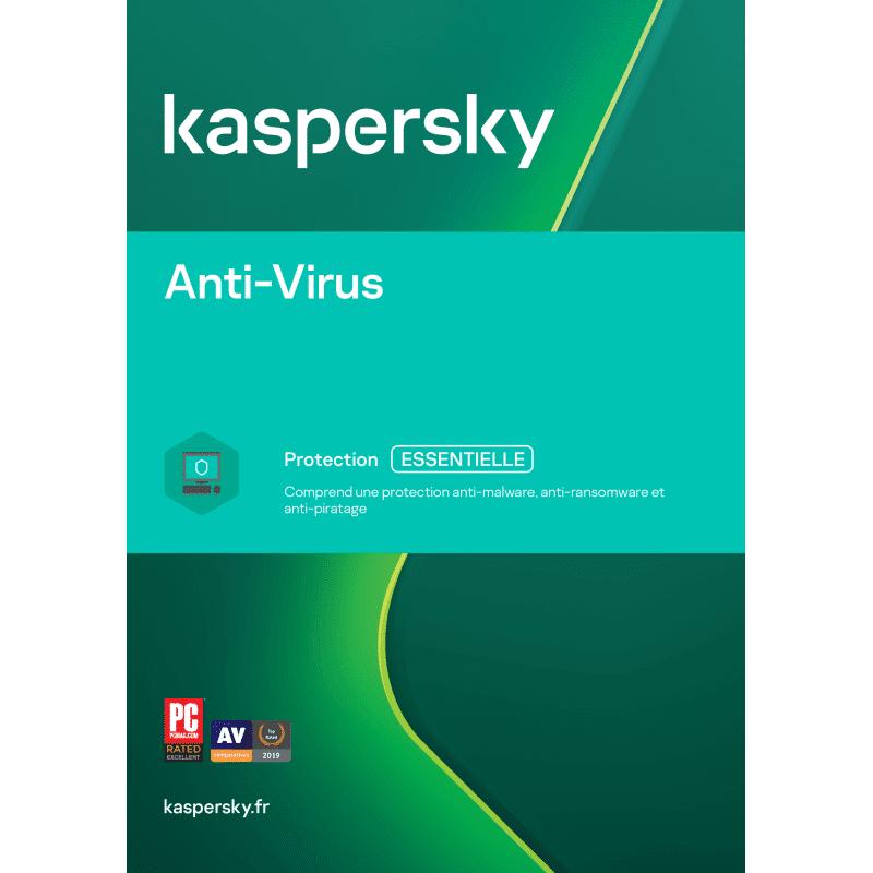 Kaspersky Antivirus 2022 2 Appareils 1 An