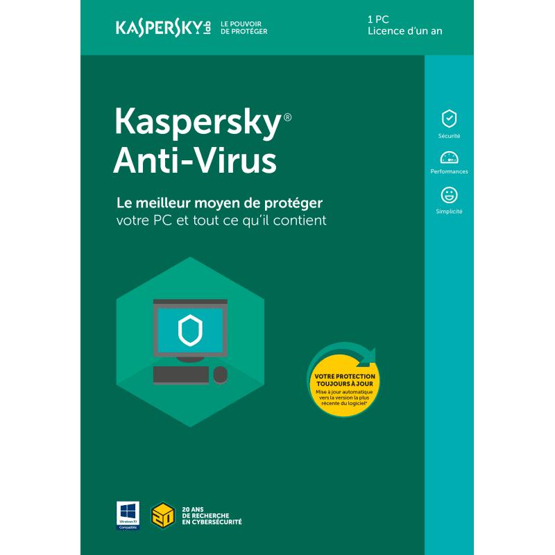 KASPERSKY Oem Kaspersky Antivirus - 1 Appareil - 1 An