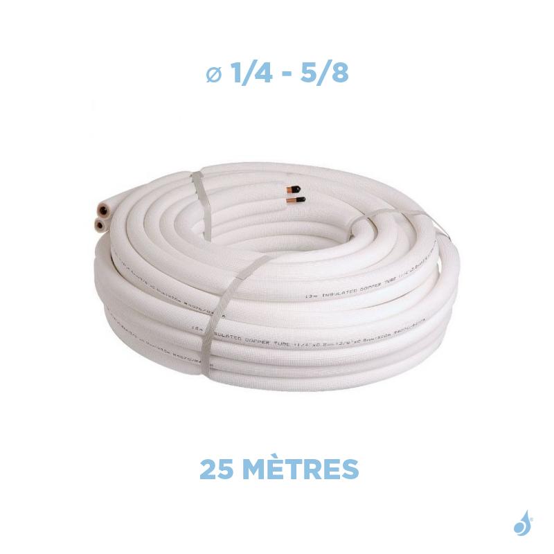 Condizionati Liaison frigorifique bi-tube isolée 1/4 - 5/8 M1 Longueur 25m