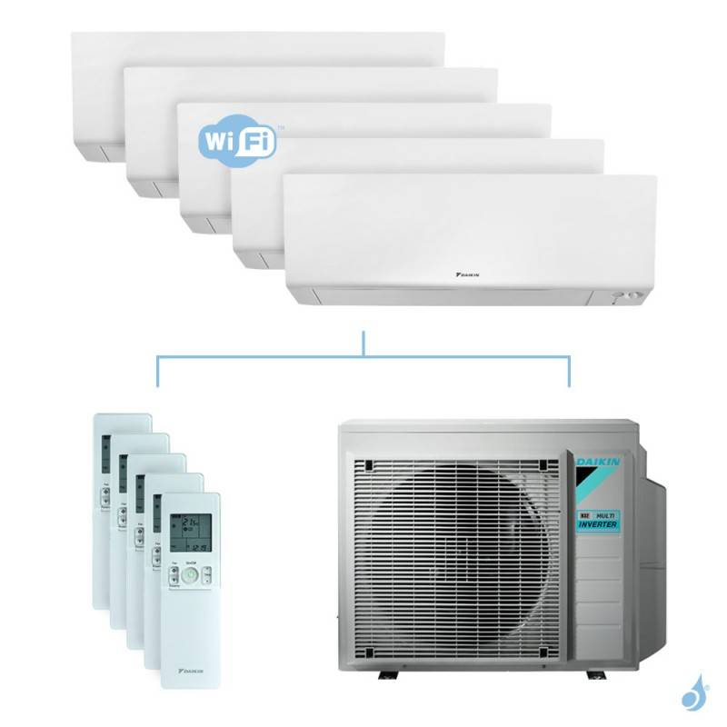 Daikin Climatisation penta-split DAIKIN Perfera FTXM-R 8.5kW taille 1.5 + 2 + 2 + 2 + 6 - C/FTXM15/20/20/20/60R + 5MXM90N
