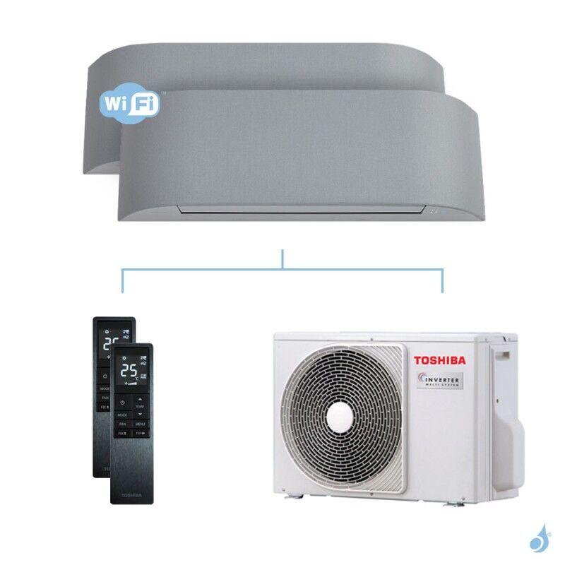 Toshiba Climatisation bi-split Toshiba Haori 5.2kW taille 10 + 10 - RAS-B10/10N4KVRG-E + RAS-3M18U2AVG-E