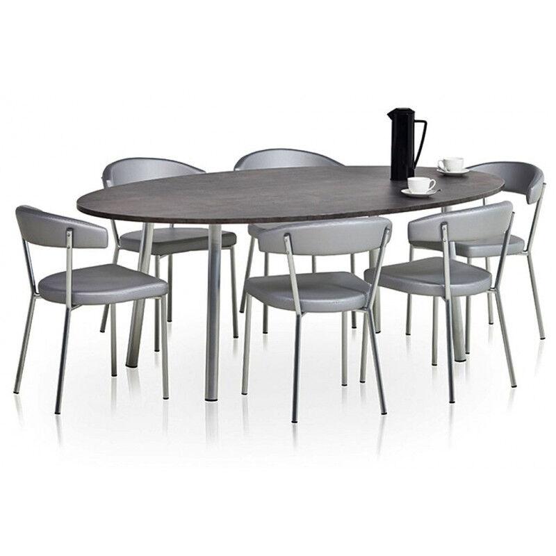 TABLE DE CUISINE RONDE OU OVALE ELLI