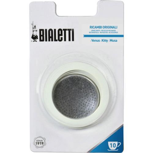 Bialetti Joints x3 + 1 filtre 10 tasses pour cafetières italiennes   BIALETTI