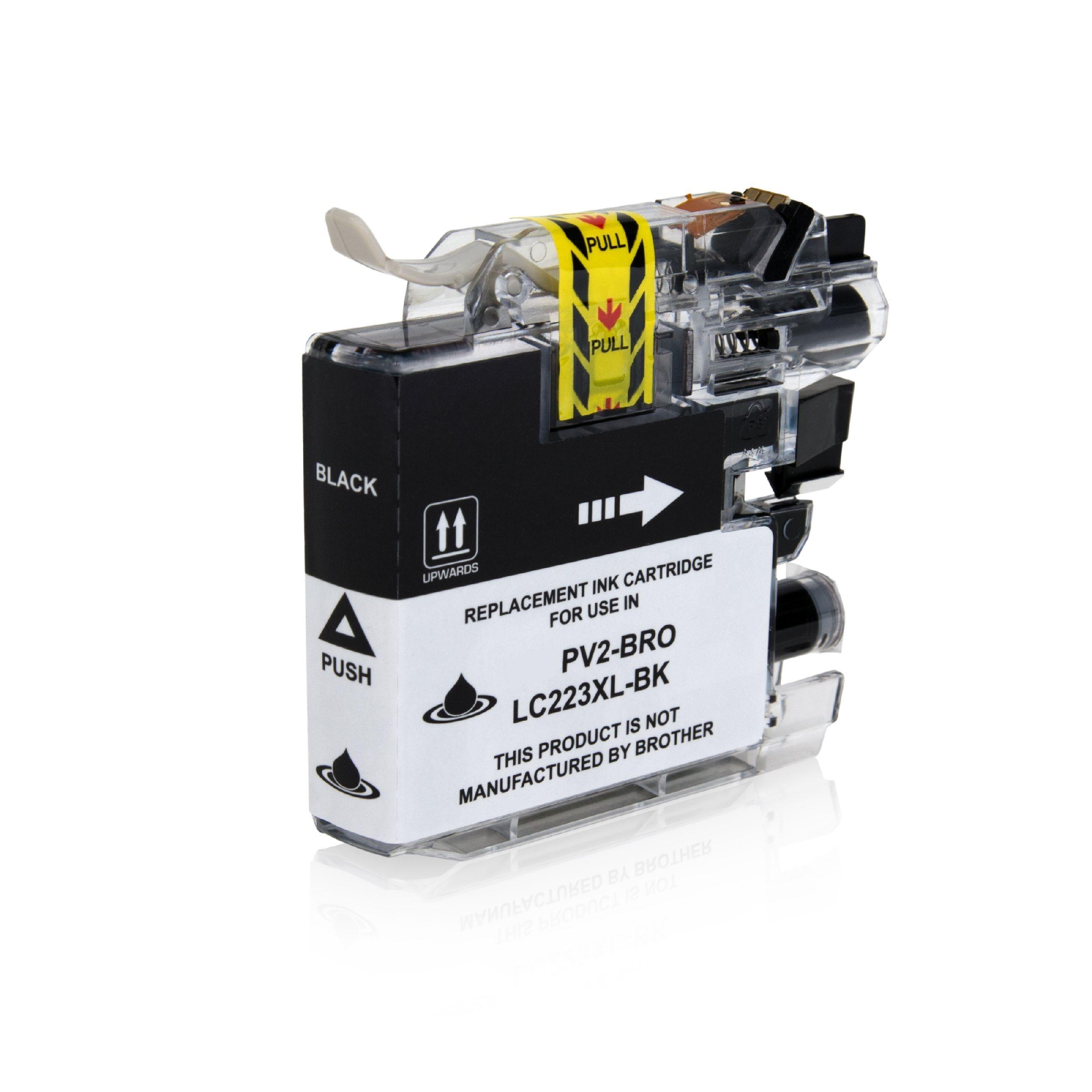 Brother Cartouche d'encre pour Brother LC223BK noir compatible (de marque ASC)