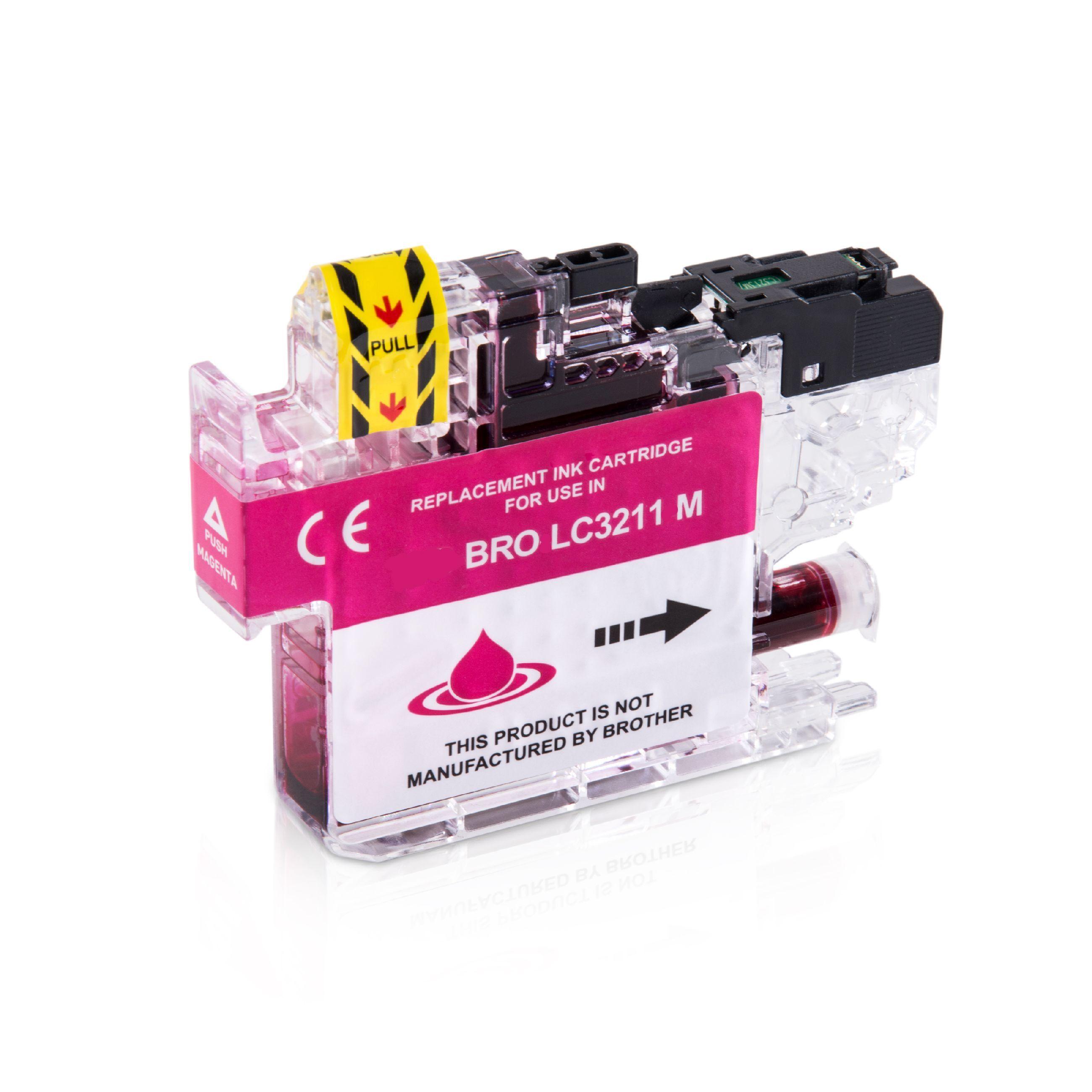 Brother Cartouche d'encre pour Brother LC3211M magenta compatible (de marque ASC)