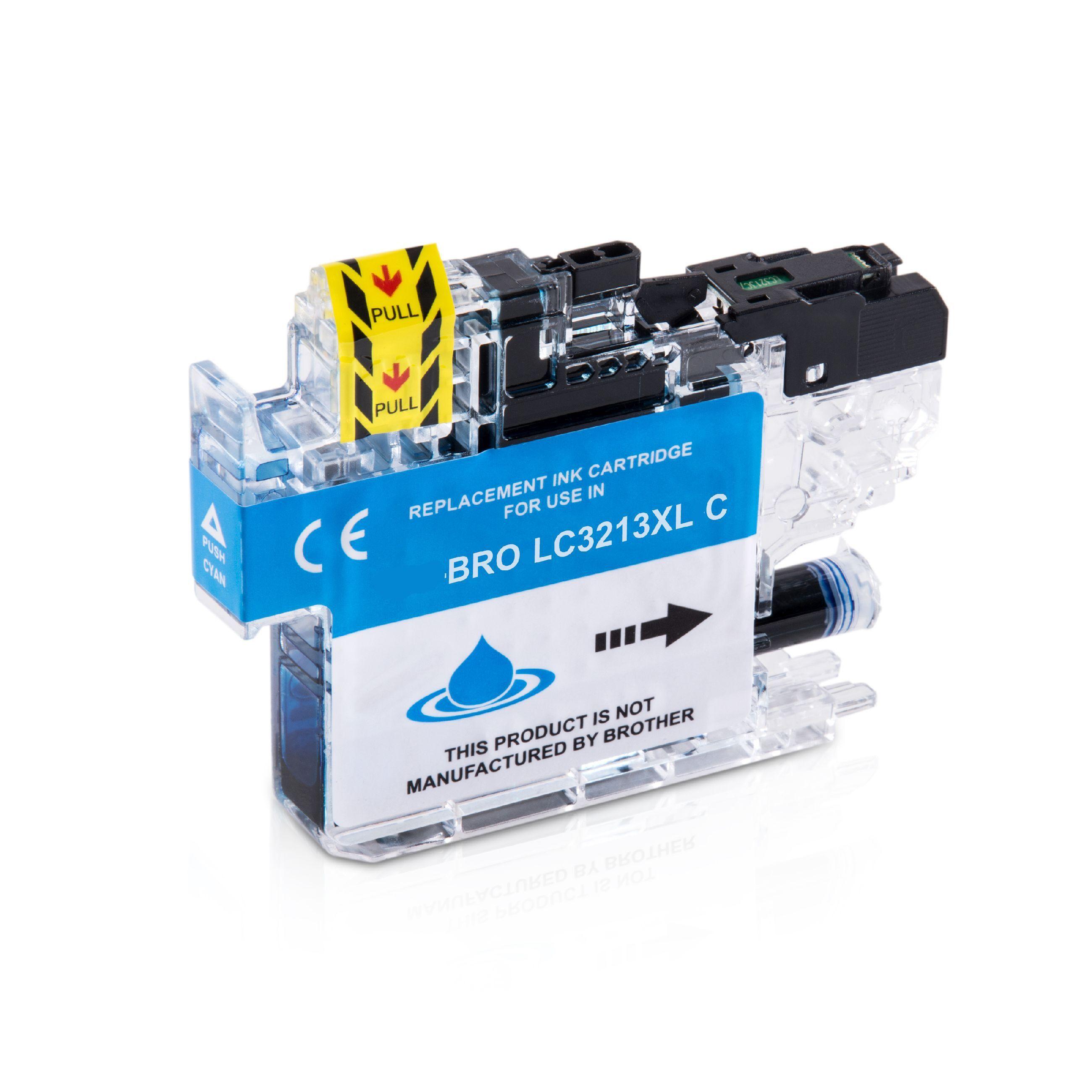 Brother Cartouche d'encre pour Brother LC3213C cyan compatible (de marque ASC)