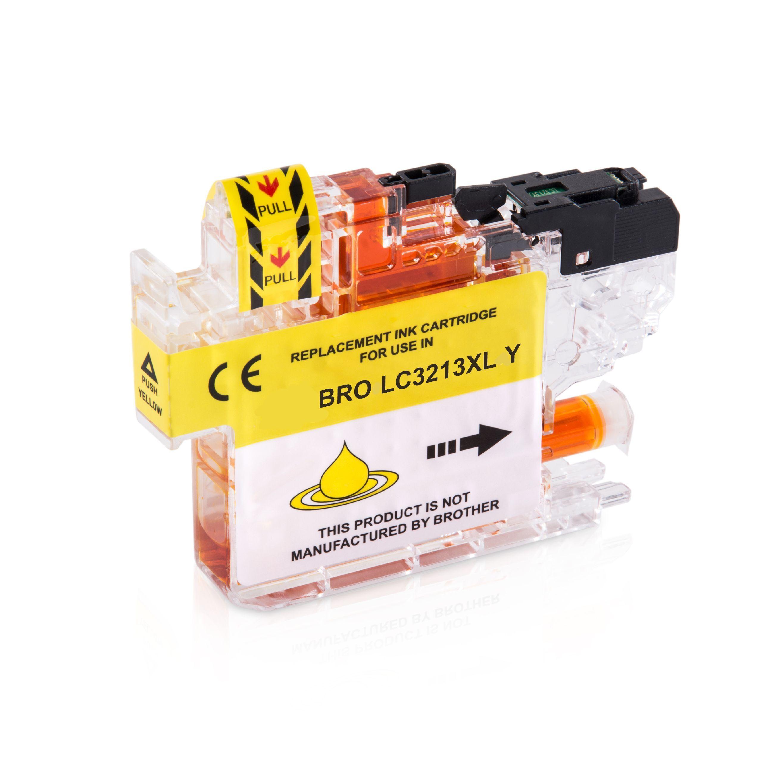 Brother Cartouche d'encre pour Brother LC3213Y jaune compatible (de marque ASC)