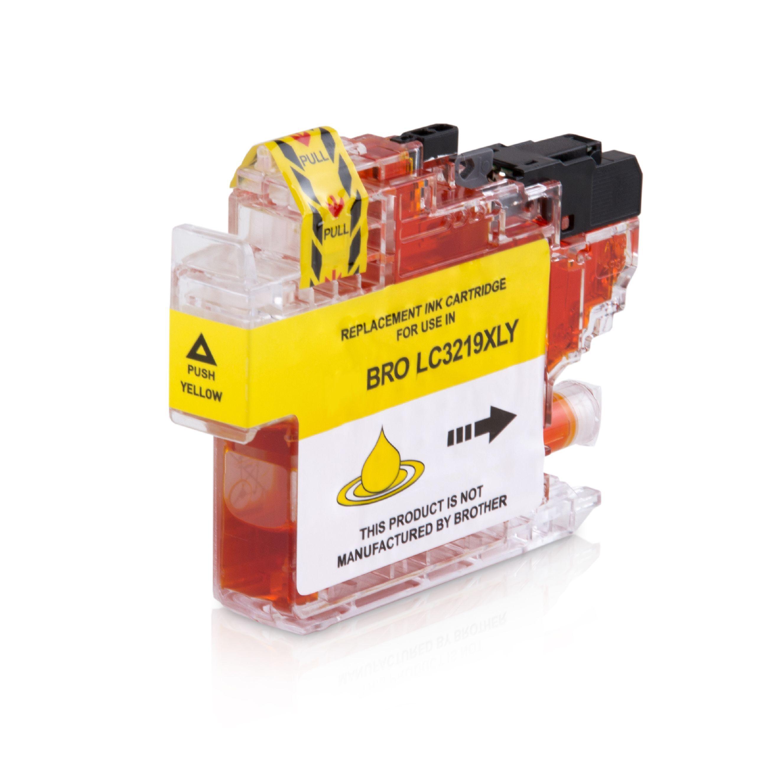 Brother Cartouche d'encre pour Brother LC3219XLY jaune compatible (de marque ASC)