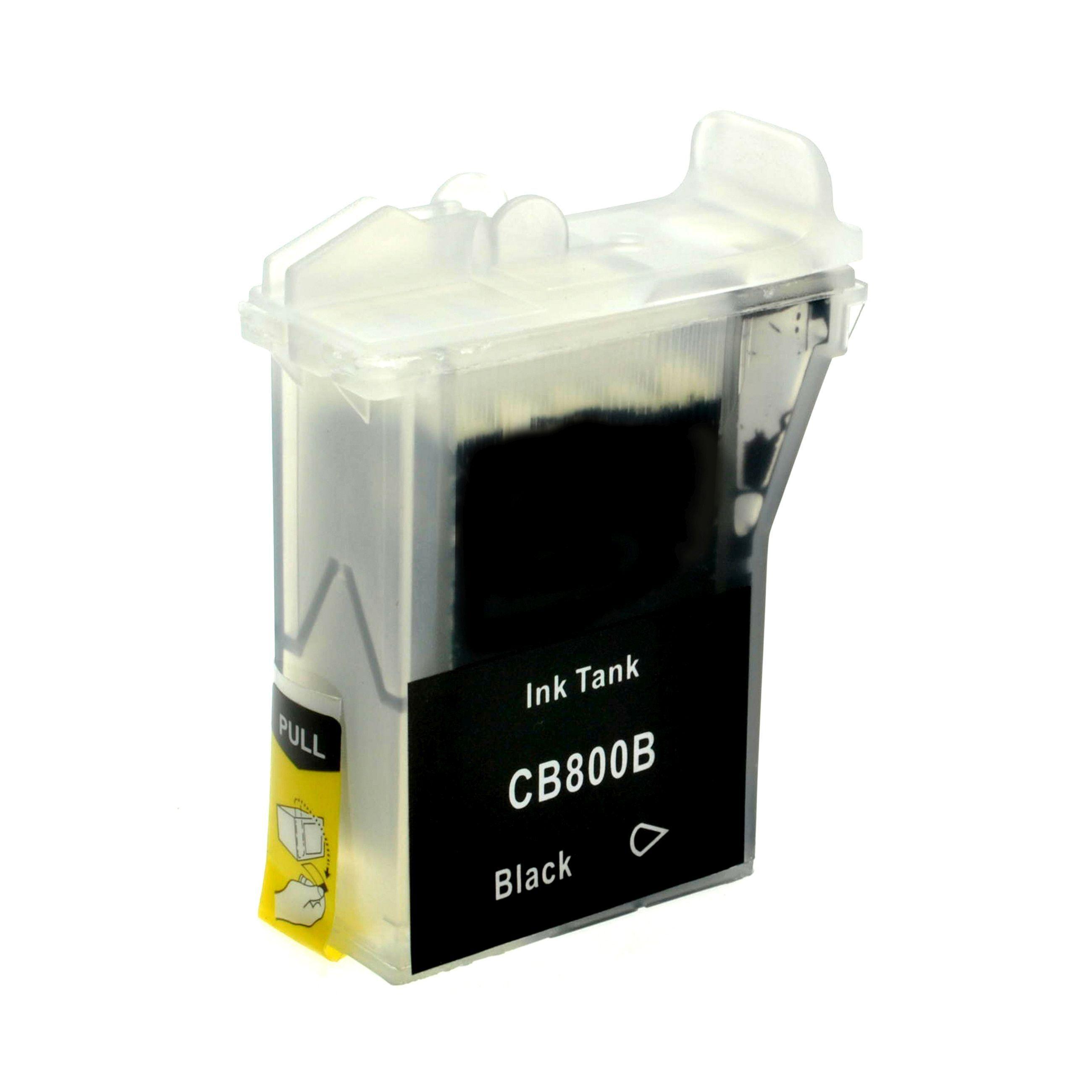 Brother Cartouche d'encre pour Brother LC800BK noir compatible (de marque ASC)