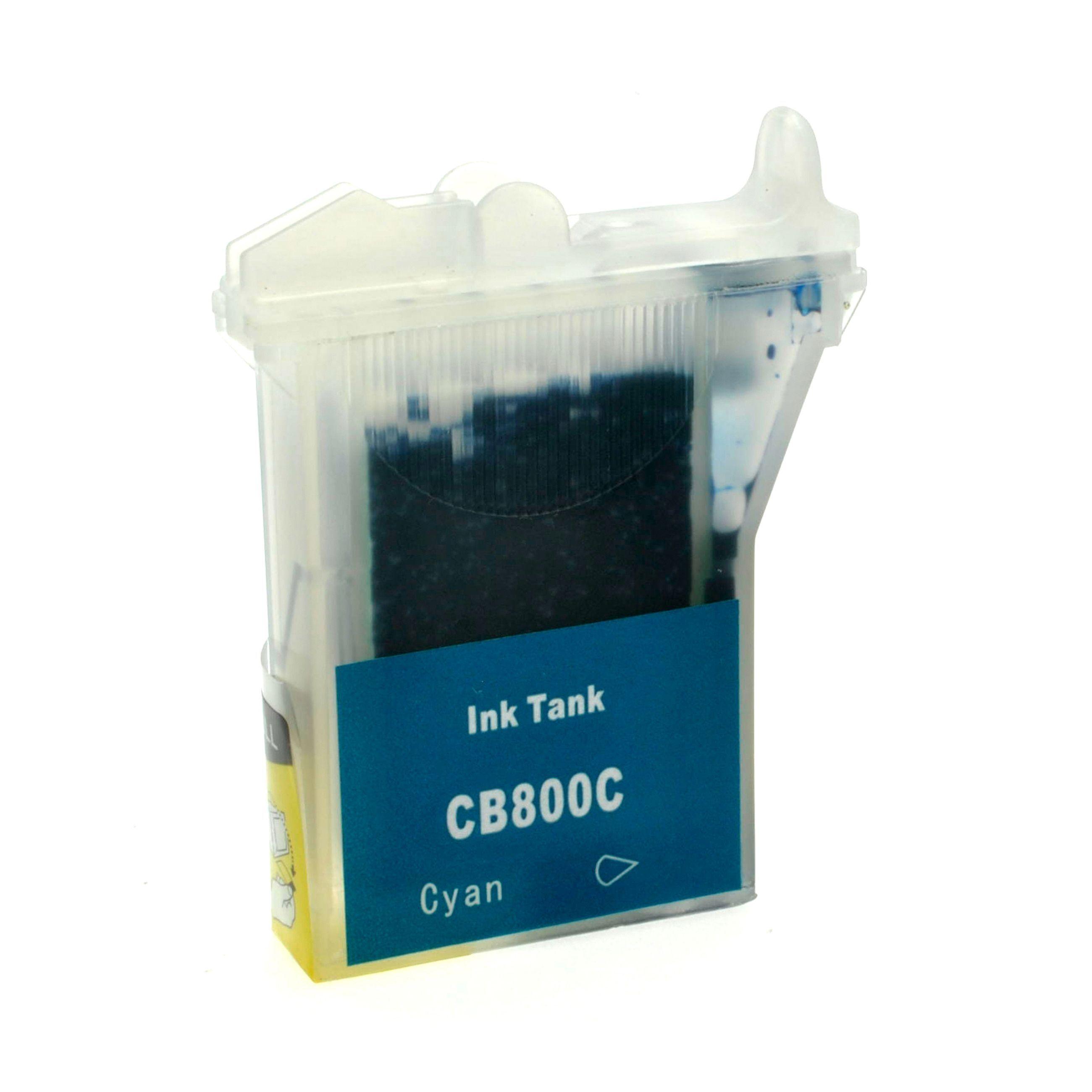 Brother Cartouche d'encre pour Brother LC800C cyan compatible (de marque ASC)