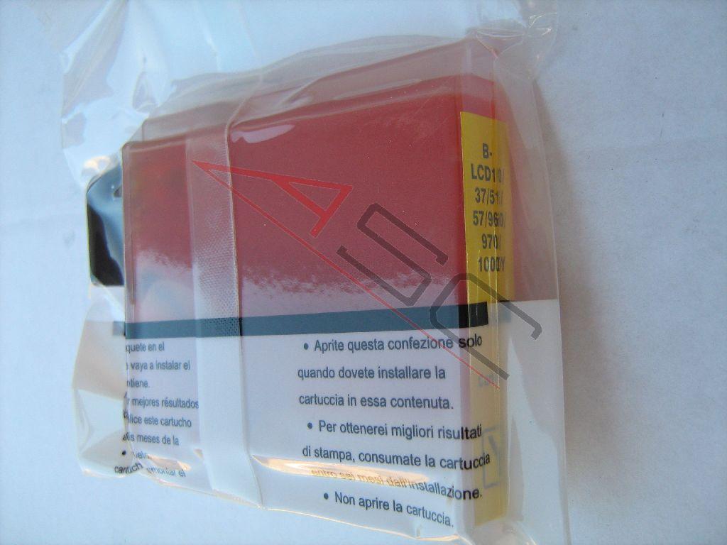 Brother Cartouche d'encre pour Brother LC1000Y jaune compatible (de marque ASC)