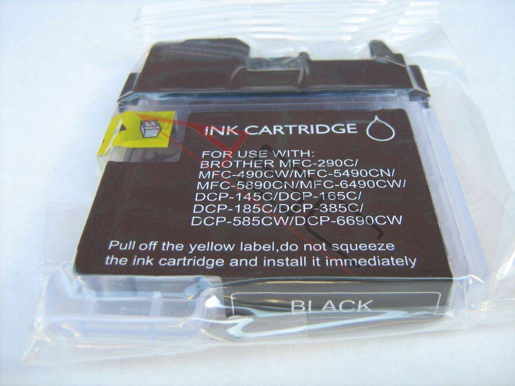 Brother Cartouche d'encre pour Brother LC1100BK noir compatible (de marque ASC)