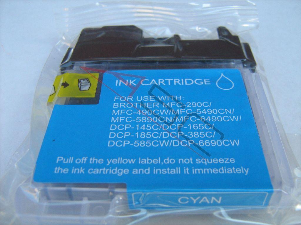 Brother Cartouche d'encre pour Brother LC1100C cyan compatible (de marque ASC)