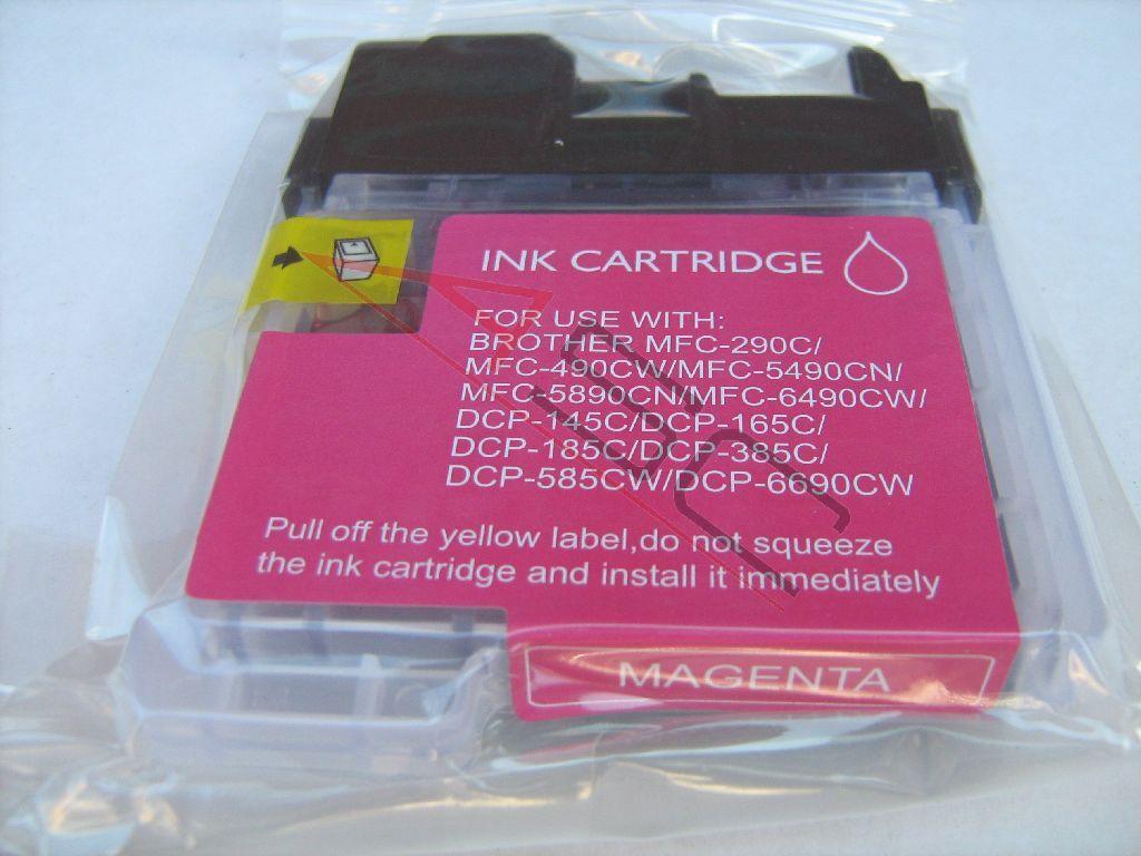 Brother Cartouche d'encre pour Brother LC1100M magenta compatible (de marque ASC)