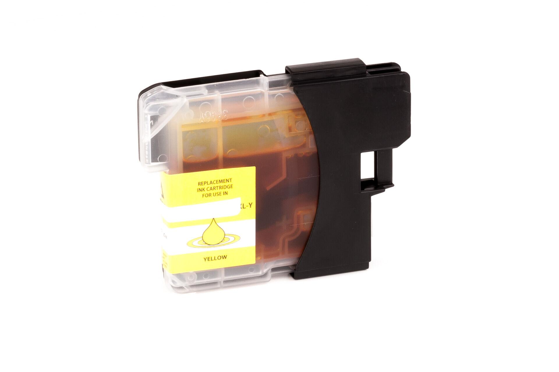 Brother Cartouche d'encre pour Brother LC980Y jaune compatible (de marque ASC)