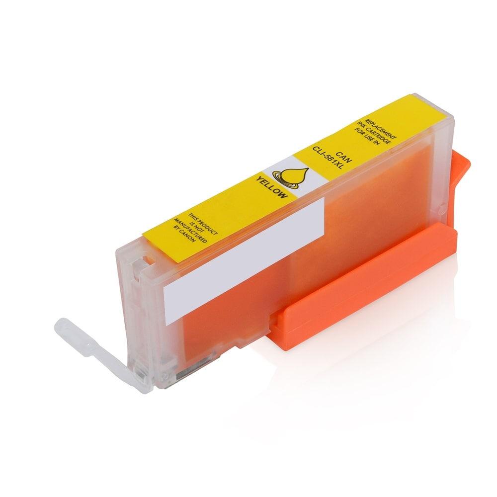 Canon Cartouche d'encre pour Canon 1997C001 / CLI-581 YXXL jaune compatible (de marque ASC)