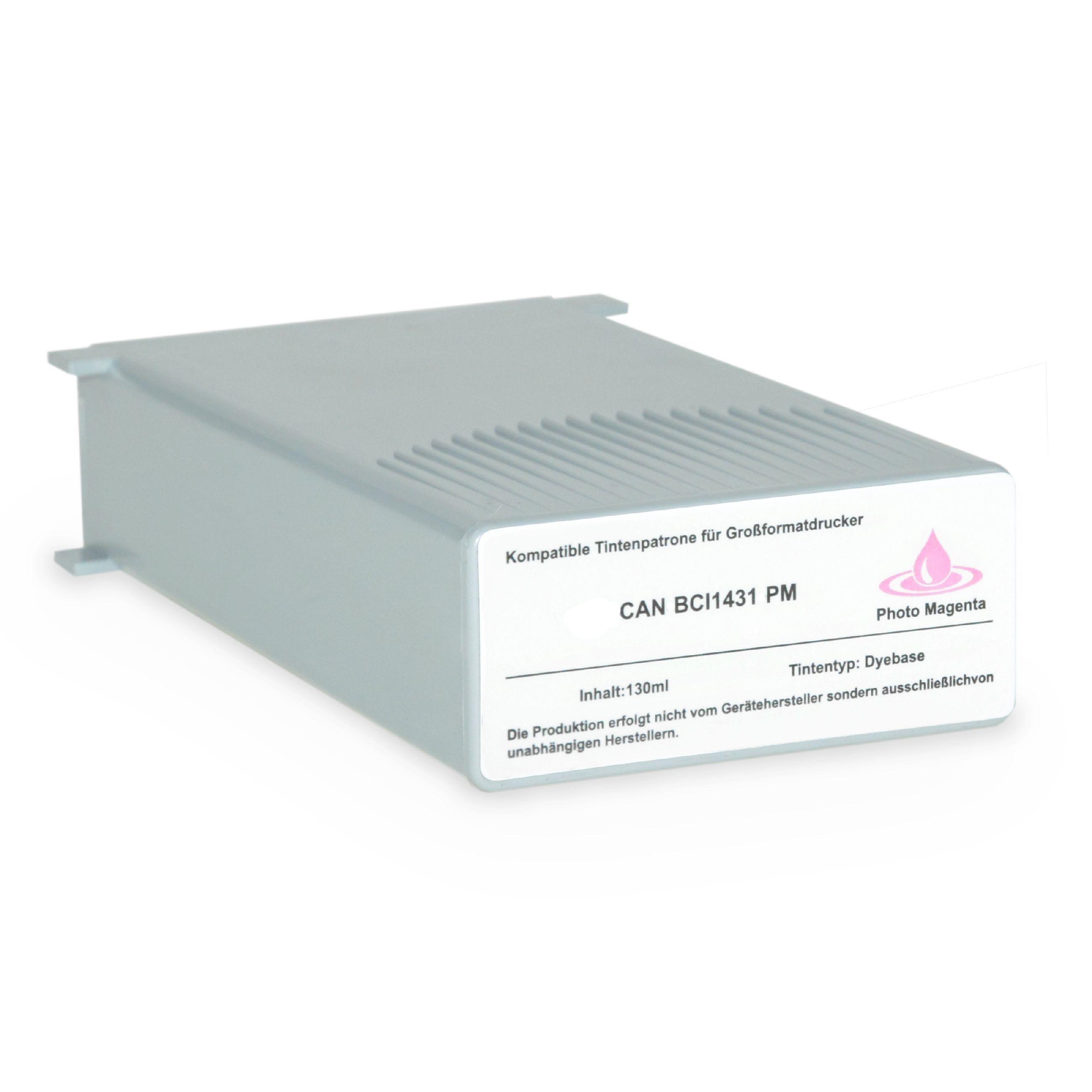 CANON Cartouche d'encre pour CANON 8974A001 / BCI-1431 PM Magenta-photo compatible (de marque ASC)