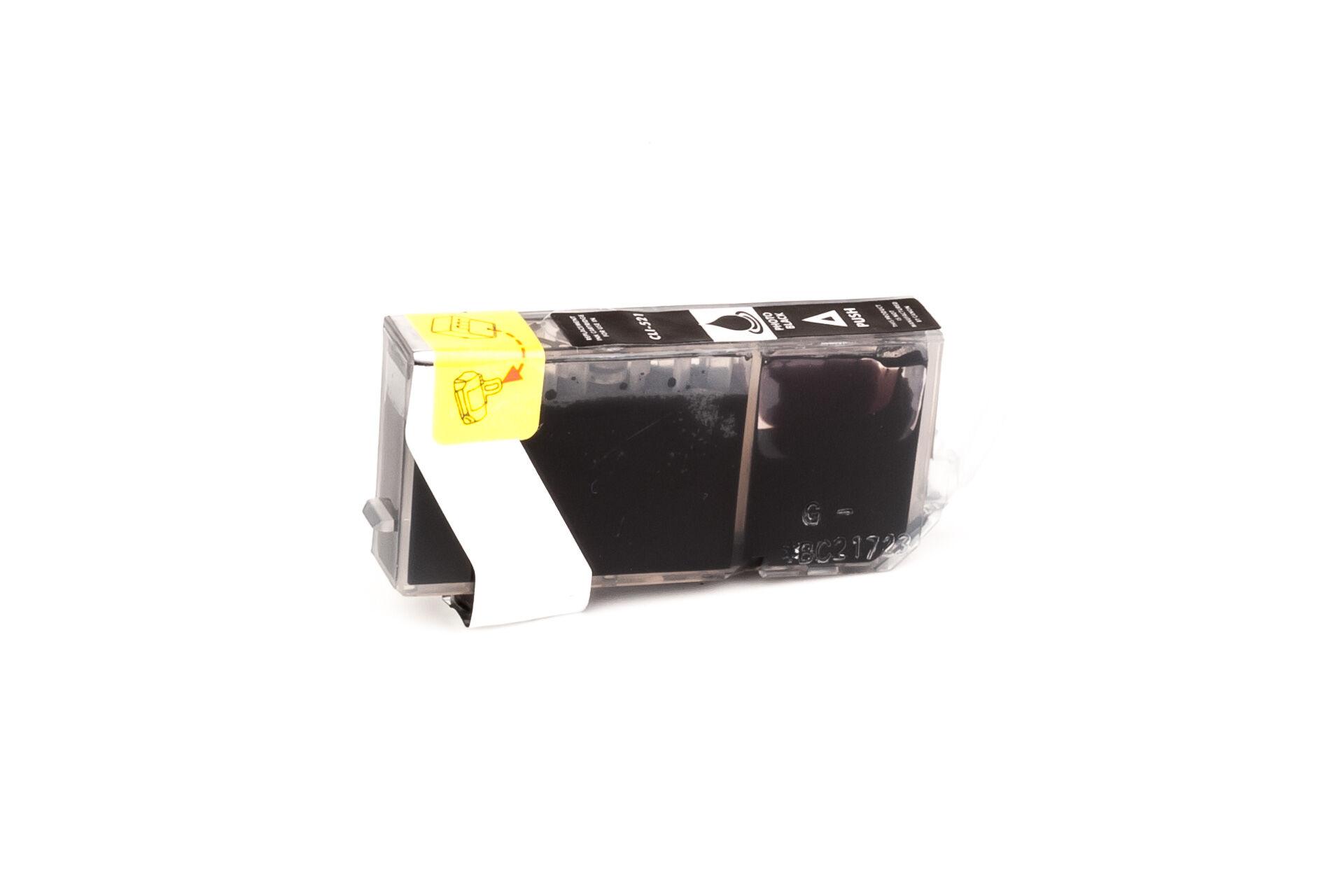 Canon Cartouche d'encre pour Canon 2933B001 / CLI-521 BK noir photo compatible (de marque ASC)