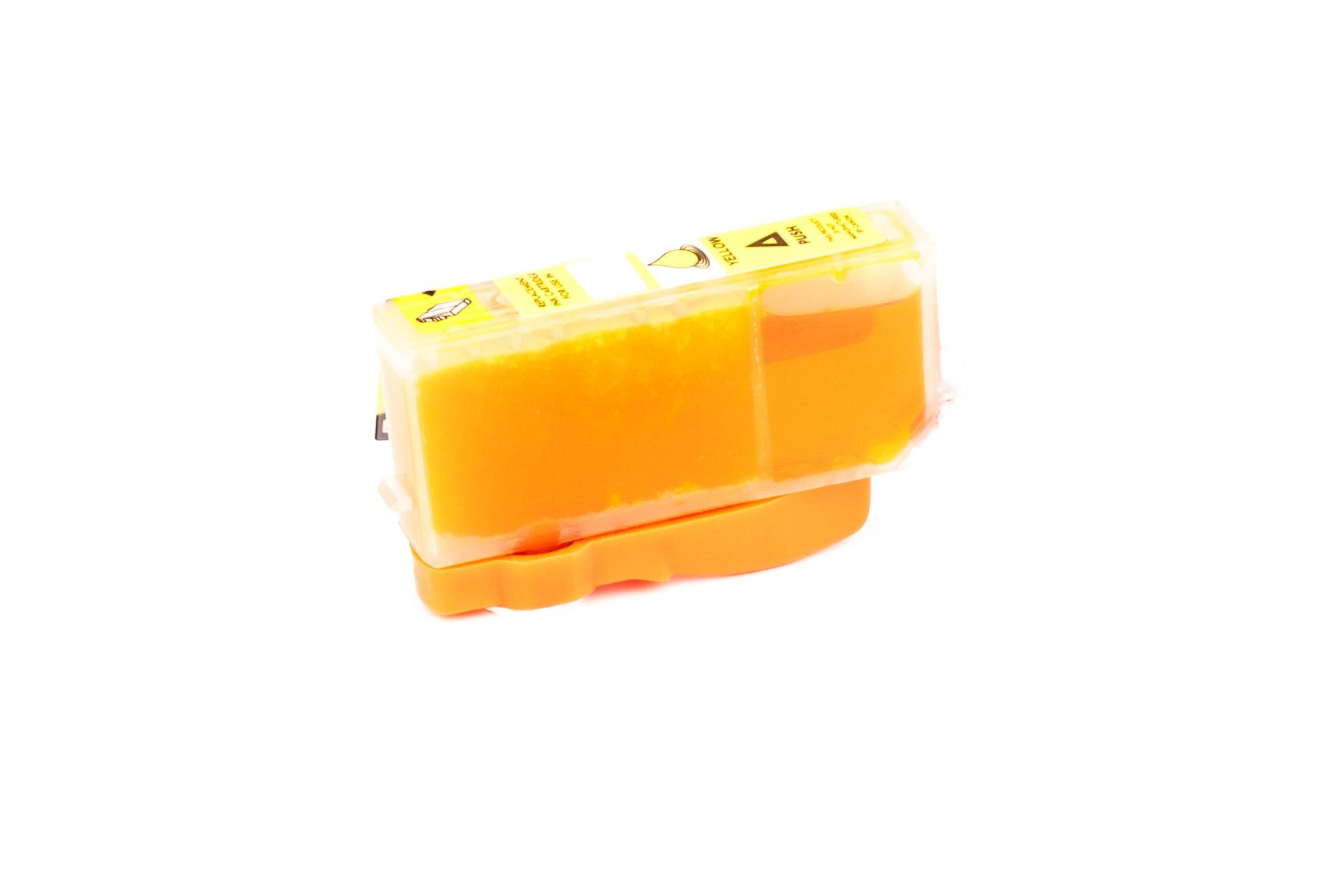 Canon Cartouche d'encre pour Canon 2936B001 / CLI-521 Y jaune compatible (de marque ASC)