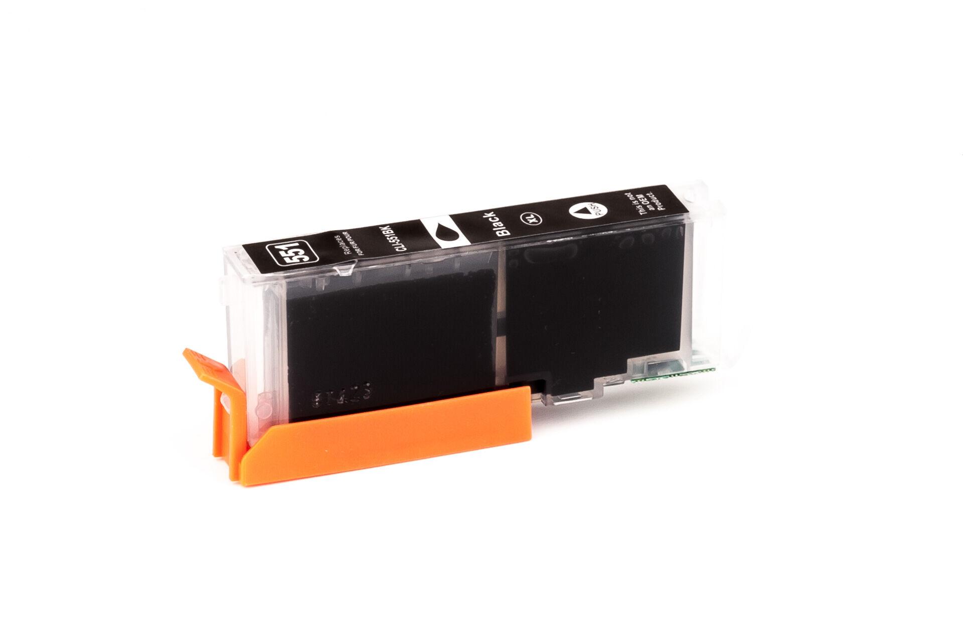 Canon Cartouche d'encre pour Canon 6443B001 / CLI-551 BKXL noir compatible (de marque ASC)