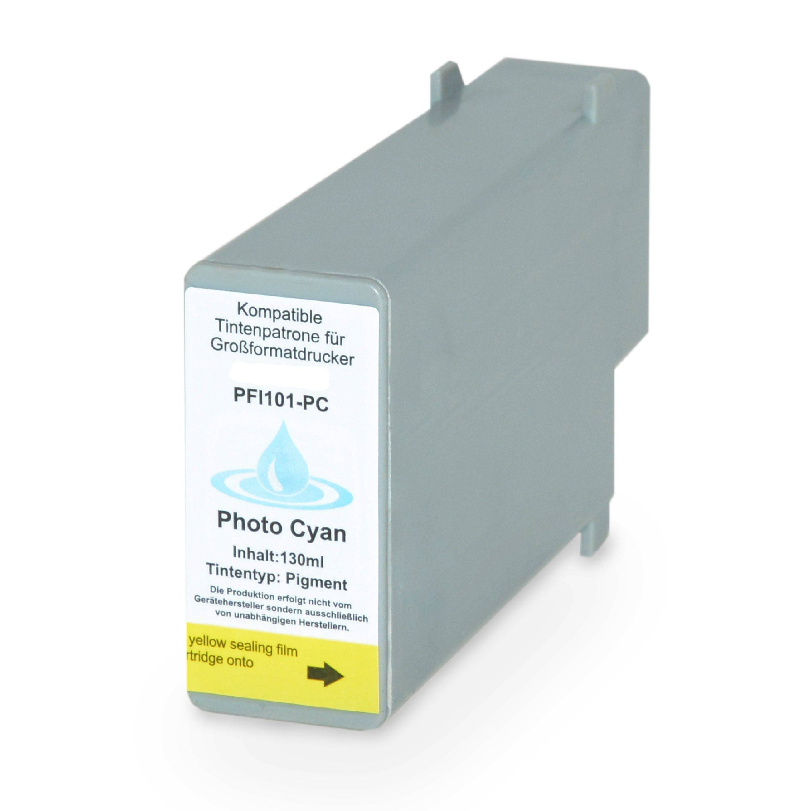 Canon Cartouche d'encre pour Canon 0887B001 / PFI-101 PC cyan-photo compatible (de marque ASC)