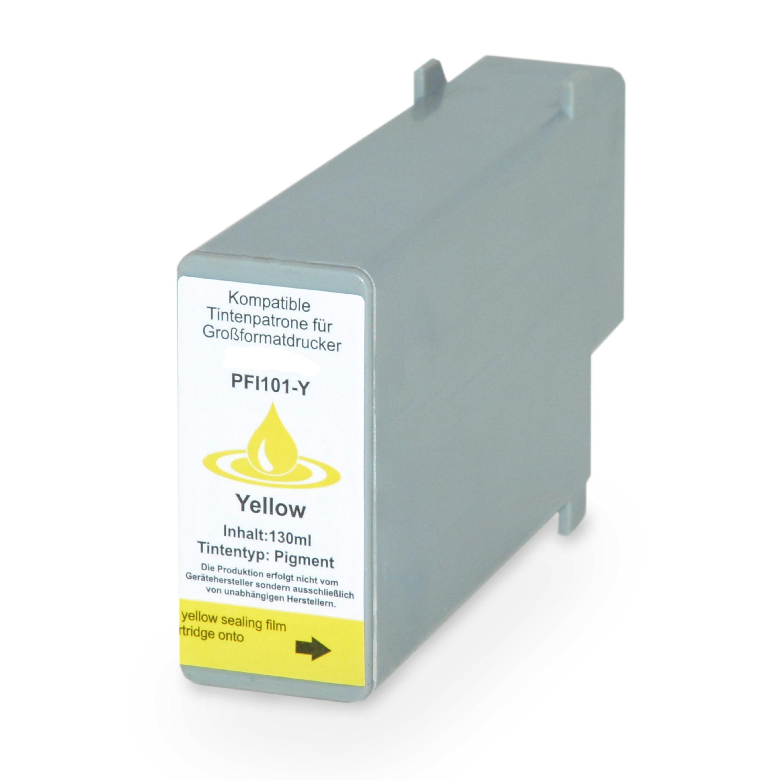 Canon Cartouche d'encre pour Canon 0886B001 / PFI-101 Y jaune compatible (de marque ASC)