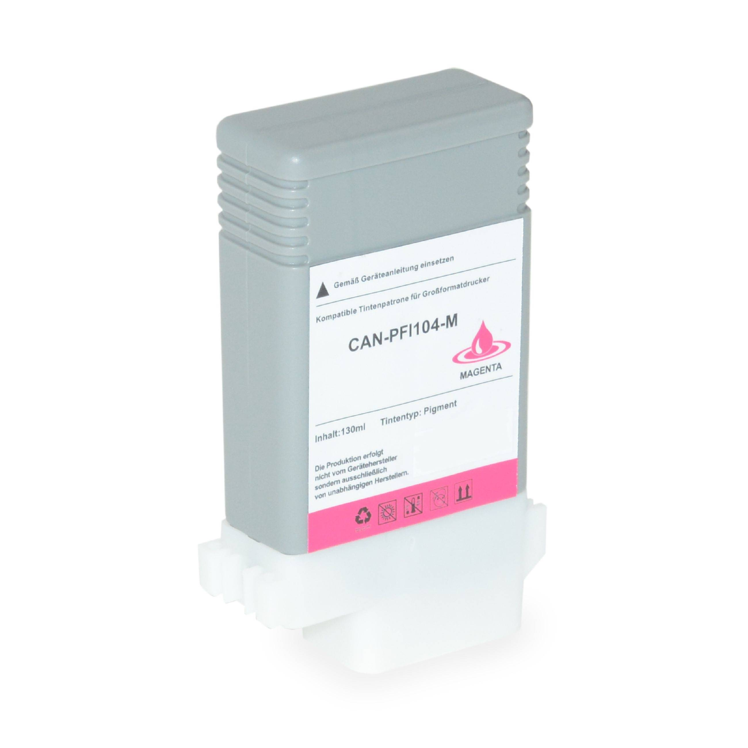 Canon Cartouche d'encre pour Canon 3631B001 / PFI-104 M magenta compatible (de marque ASC)