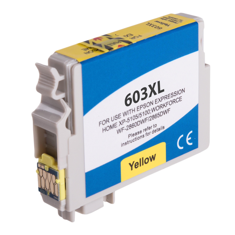 Epson Cartouche d'encre pour Epson C13T03A44010 / 603XL jaune compatible (de marque ASC)