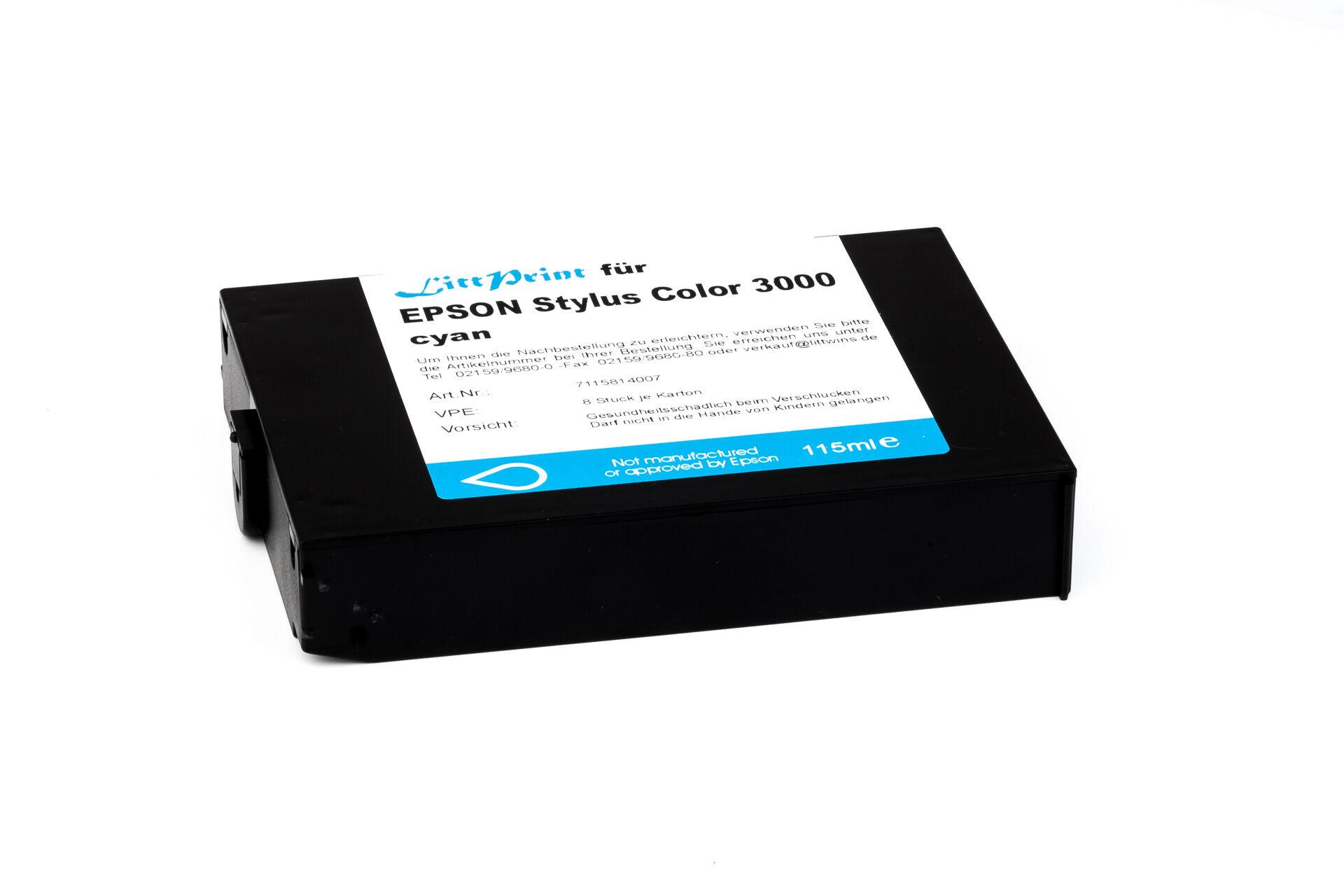 Epson Cartouche d'encre pour Epson C13S020130 cyan compatible (de marque ASC)