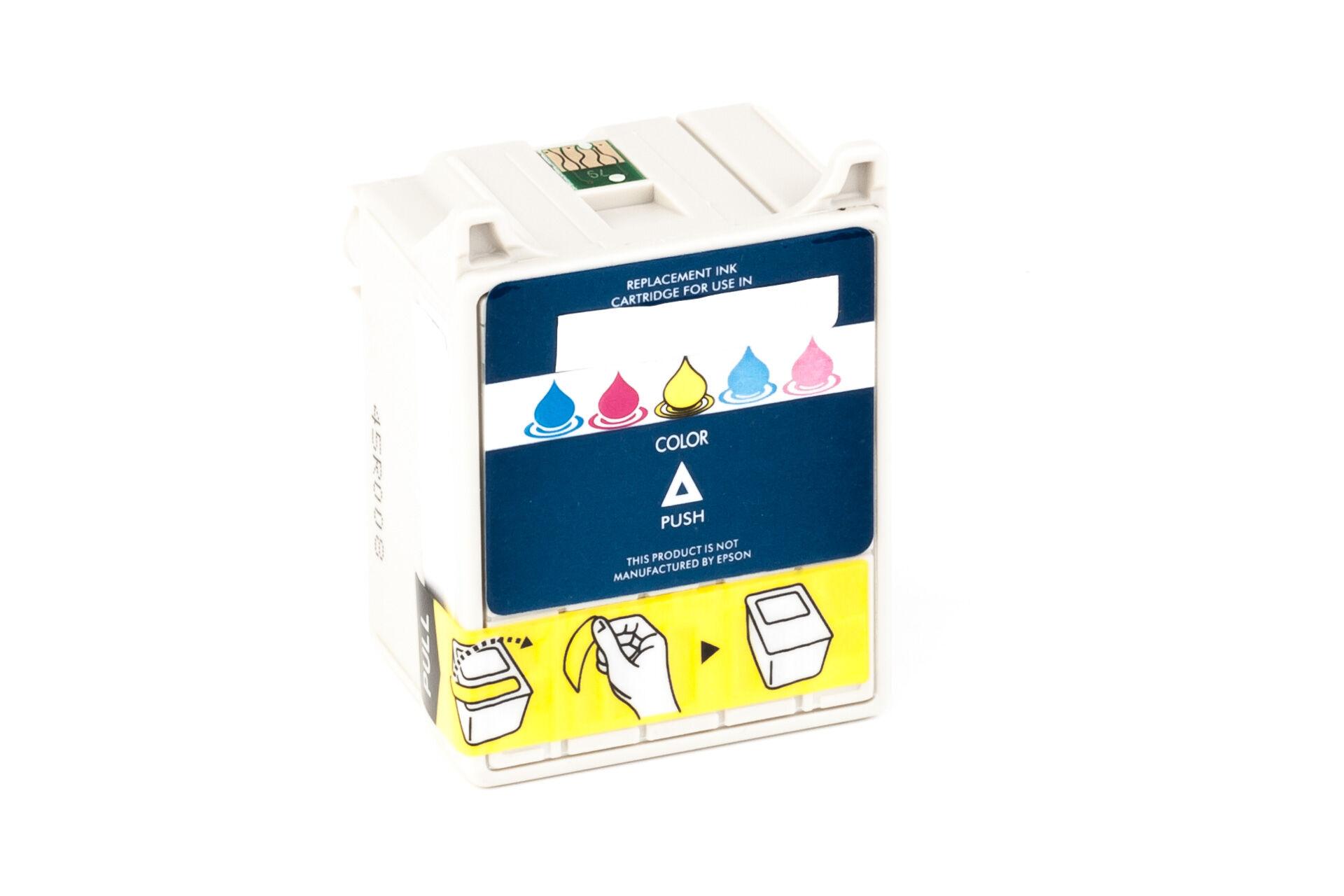Epson Cartouche d'encre pour Epson C13T02740110 / T027 Couleur compatible (de marque ASC)