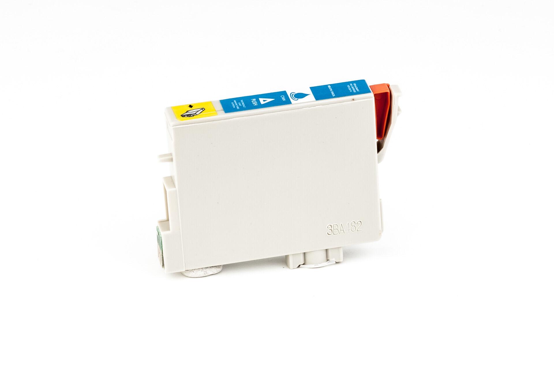 Epson Cartouche d'encre pour Epson C13T04824010 / T0482 cyan compatible (de marque ASC)