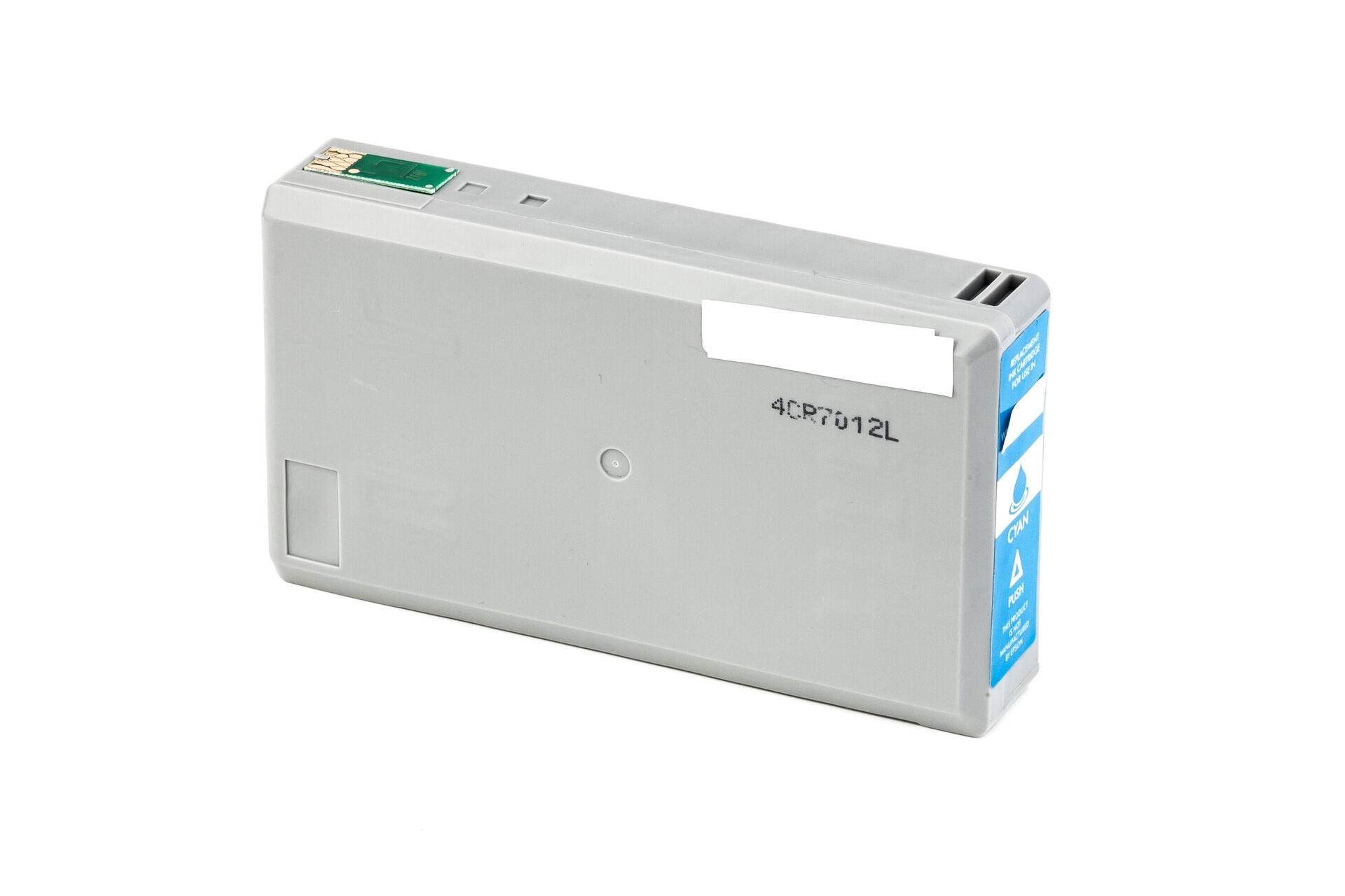 Epson Cartouche d'encre pour Epson C13T07124011 / T0712 cyan compatible (de marque ASC)