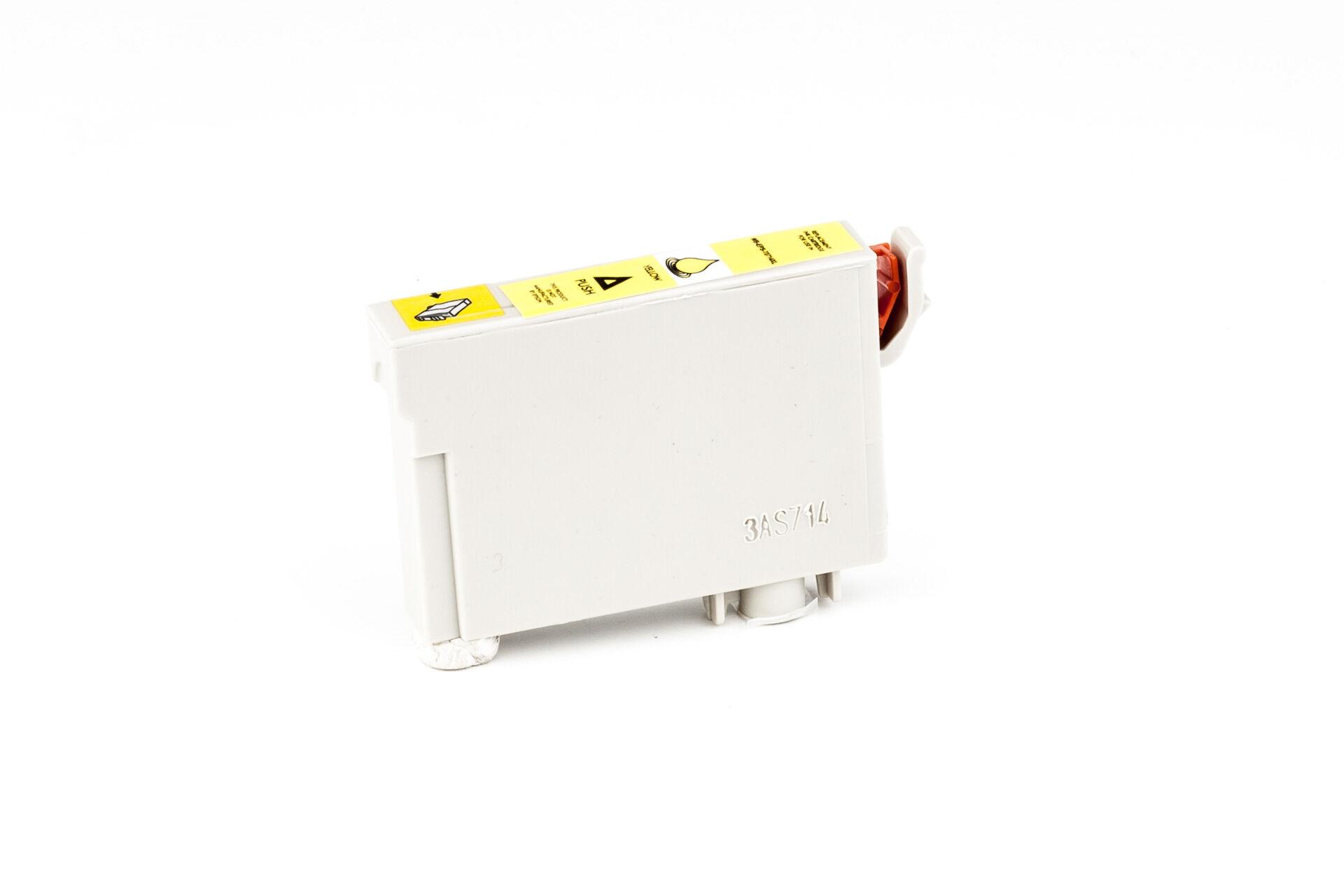 Epson Cartouche d'encre pour Epson C13T07144011 / T0714 jaune compatible (de marque ASC)