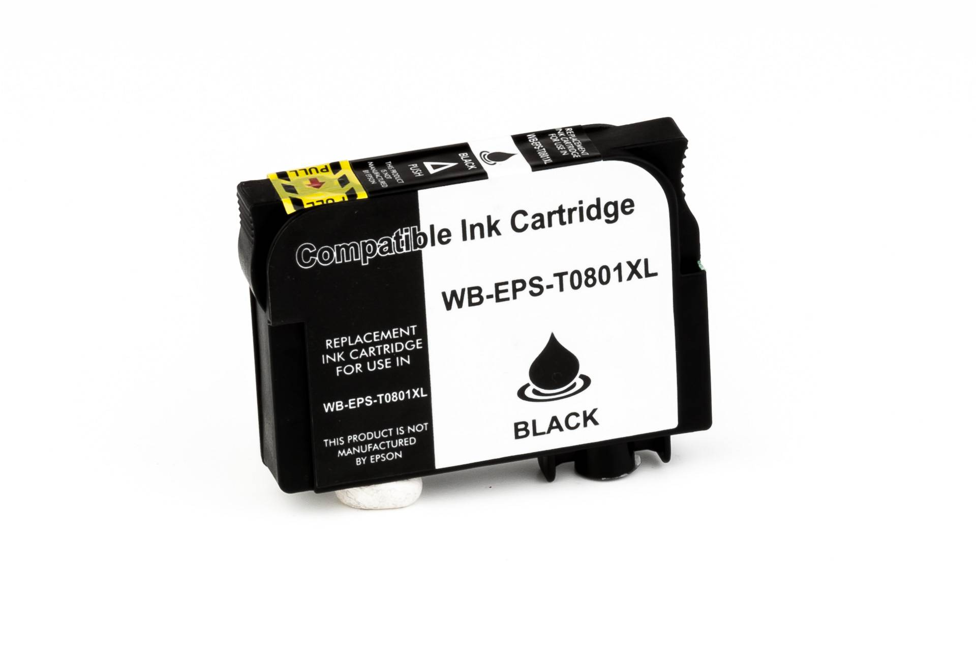 Epson Cartouche d'encre pour Epson C13T08014011 / T0801 noir compatible (de marque ASC)